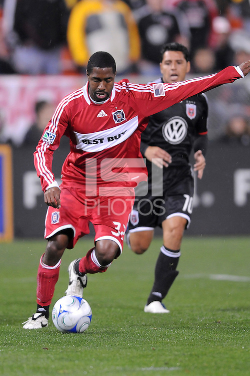 Chicago Fire defender Dasan Robinson (32)    Chicago Fire tied  DC United 1-1 at  RFK Stadium, Saturday March 28, 2009.