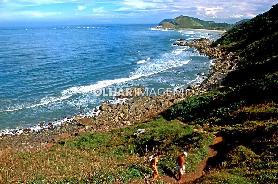 Praia Grande na Ilha do Mel. Paraná. 2000. Foto de Renata Mello.