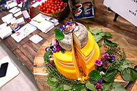 NEW YORK, NY - JUNE 23: A Cheese cake displayed during the Summer Fancy Food Show at the Javits Center in the borough of Manhattan on June 23, 2019 in New York, The Summer Fancy Food Show is the largest and biggest specialty food industry event in the continent (Photo by Kena Betancur/VIEWpress/Corbis via Getty Image