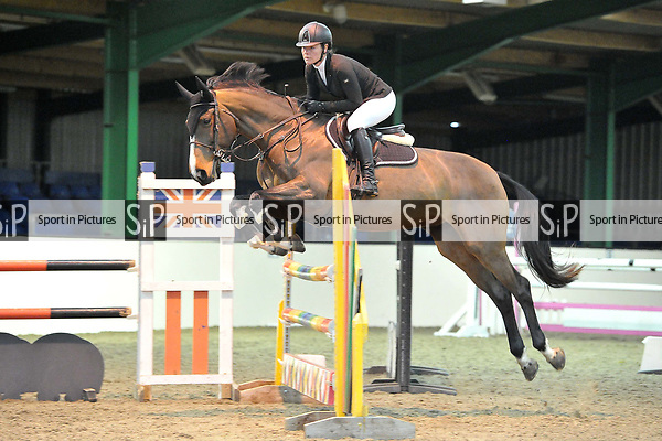 Class 5. Area 40 British showjumping christmas show. Seniors. Brook Farm Training Centre. Essex. UK. 02/12/2018. ~ MANDATORY Credit Garry Bowden/Sportinpictures - NO UNAUTHORISED USE - 07837 394578