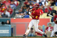 February 28 2010: Mike O'Neill of USC during game against UCLA at Dodger Stadium in Los Angeles,CA.  Photo by Larry Goren/Four Seam Images