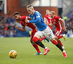 01.02.2020 Rangers v Aberdeen: Ryan Kent and Shay Logan