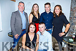 Niamh O&rsquo;Sullivan from Castleisland, celebrating her birthday in Bella Bia on Saturday night. <br /> Niamh O&rsquo;Sullivan and James McEllistrim.<br /> Back l-r, Gerry and Aisling O&rsquo;Sullivan, Jody Walsh and Susan O&rsquo;Sullivan.
