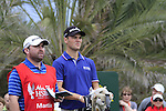 Martin Kaymer and his caddy wait to tee off on the 14th tee during Day 2 Friday of the Abu Dhabi HSBC Golf Championship, 21st January 2011..(Picture Eoin Clarke/www.golffile.ie)