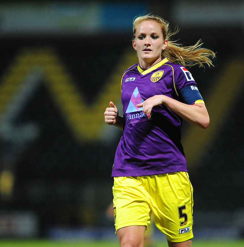 Notts County Ladies' Sophie Bradley&nbsp;<br /> <br /> Photo by Chris Vaughan/CameraSport<br /> <br /> Women's Football - FA Women&rsquo;s Super League 1 - Notts County Ladies v Arsenal Ladies - Wednesday 16th April 2014 - Meadow Lane - Nottingham<br /> <br /> &copy; CameraSport - 43 Linden Ave. Countesthorpe. Leicester. England. LE8 5PG - Tel: +44 (0) 116 277 4147 - admin@camerasport.com - www.camerasport.com