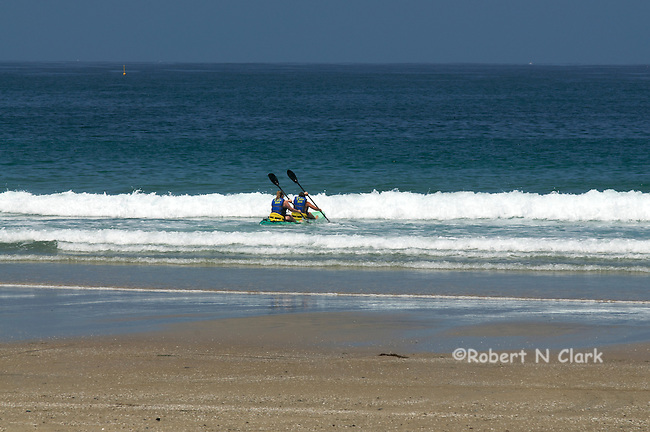 Kayakers getting started at La Jolla Shores