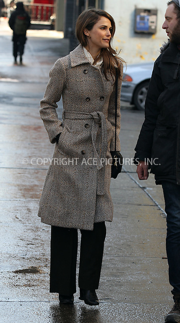 WWW.ACEPIXS.COM<br /> <br /> January 21 2014, New York City<br /> <br /> Actress Keri Russell was on the set of the TV show 'The Americans' on January 21 2014 in New York City<br /> <br /> By Line: Zelig Shaul/ACE Pictures<br /> <br /> <br /> ACE Pictures, Inc.<br /> tel: 646 769 0430<br /> Email: info@acepixs.com<br /> www.acepixs.com