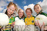 ON THE BALL: Enjoying the Kerry GAA VHI Cul Camp in Duagh on Thursday last were Margaret Walsh, Michelle Buckley, Kylie Walsh and Katie Ahern..