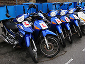Blue Pizza Delivery Motorbikes from Domino's Pizza
