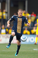 24 OCTOBER 2010:  Philadelphia Union defender Jordan Harvey (2) during MLS soccer game against the Columbus Crew at Crew Stadium in Columbus, Ohio on August 28, 2010.