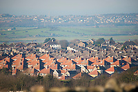 Housing estate, Lancaster, Lancashire,