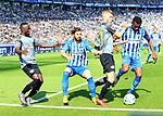 12.05.2018, OLympiastadion, Berlin, GER, 1.FBL, Hertha BSC VS. RB Leipzig, im Bild <br /> Marvin Plattenhardt (Hertha BSC Berlin #21), Salomon Kalou  (Hertha BSC Berlin #8), Naby Keita (RB Leipzig #8), Konrad Laimer (RB Leipzig #27)<br /> <br />       <br /> Foto &copy; nordphoto / Engler