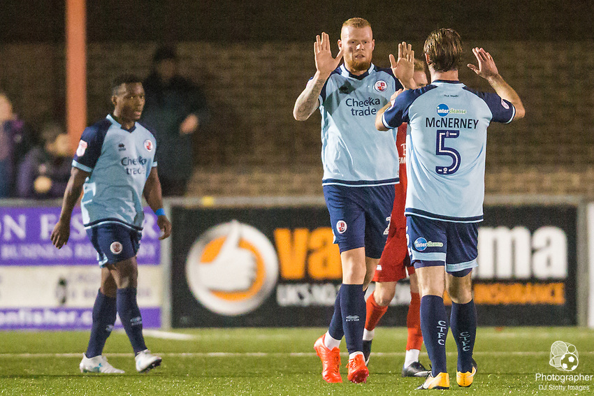 Thomas Verheydt (Crawley) celebrates his goal during Parafix Sussex Senior Cup Quarter Final between Eastbourne Borough FC & Crawley Town FC on Tuesday 09 January 2018 at Priory Lane. Photo by Jane Stokes (DJ Stotty Images)