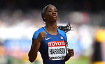 Kendra HARRISON (USA) in the womens 100m hurdles heats. IAAF world athletics championships. London Olympic stadium. Queen Elizabeth Olympic park. Stratford. London. UK. 11/08/2017. ~ MANDATORY CREDIT Garry Bowden/SIPPA - NO UNAUTHORISED USE - +44 7837 394578