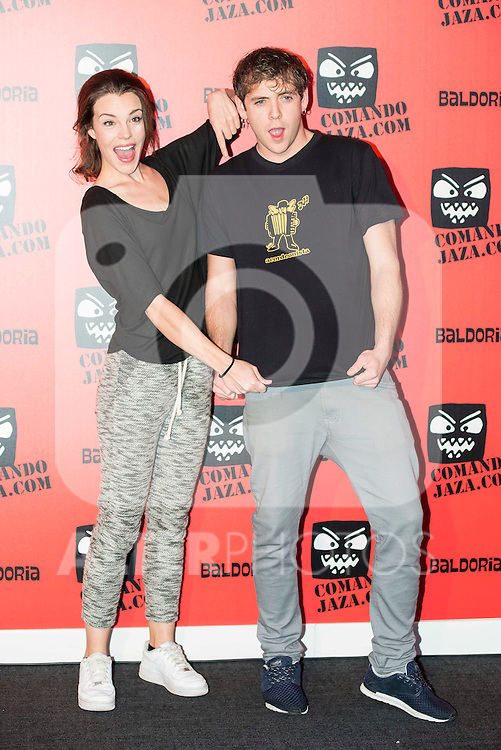 Lucia Abello and Junio Valverde attends the presentation of the brand &quot;Comando Jaza&quot; in Madrid, December 14, 2015<br /> (ALTERPHOTOS/BorjaB.Hojas)