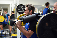 Darren Allinson of Bath Rugby in the gym. Bath Rugby pre-season training on July 2, 2018 at Farleigh House in Bath, England. Photo by: Patrick Khachfe / Onside Images
