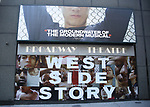 """Theatre Marquee for """"West Side Story"""" at the Broadway Theatre on December 11, 2019 in New York City."""