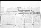 RGS C-16 #19 stopped on Ames Bridge 43-A in order to supply the repair crew at the base of the trestle.  Same or better image at RD155-061, RD155-133, RD155-138, RD171-020 and RDS079-005.<br /> RGS  Ames, CO  Taken by Virden, Walter - ca. 1920
