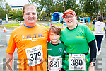 Randall, Lee and Catherine Wharton, pictured taking part in CBS, The Green fun run on Sunday last.