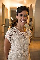 """Elba Garcia Villareal directora de la fundacion cultural MACAY durante la exposicion de Marcela Lobo """"Cuerpos Vibrantes"""" en el museo MACAY de Merida Yucatan el 19 de Julio del 2013.<br /> Foto: Mauricio Palos /NortePhoto"""