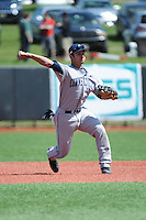 University of Connecticut Huskies infielder Vinny Siena (9) during game against the Rutgers University Scarlet Knights at Bainton Field on May 3, 2013 in Piscataway, New Jersey. Connecticut defeated Rutgers 3-1.      . (Tomasso DeRosa/ Four Seam Images)