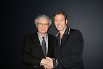 Sheldon Harnick (special guest and lyrist of Broadway shows) and Days of our Lives' Kevin Spirtas who sang at Jamie deRoy & Friends Cabaret on May 1, 2010 at Primary Stages 59E59 Theaters celebrate their 25th anniversary - New York City, New York. (Photo by Sue Coflin/Max Photos