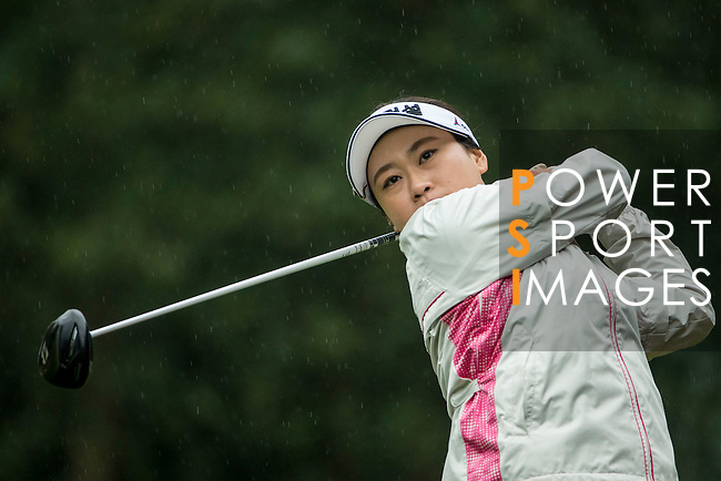 Han Sol JI of South Korea tees off at the 14th hole during Round 1 of the World Ladies Championship 2016 on 10 March 2016 at Mission Hills Olazabal Golf Course in Dongguan, China. Photo by Victor Fraile / Power Sport Images