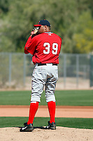 Rafael Flores - Los Angeles Angels - 2009 spring training.Photo by:  Bill Mitchell/Four Seam Images