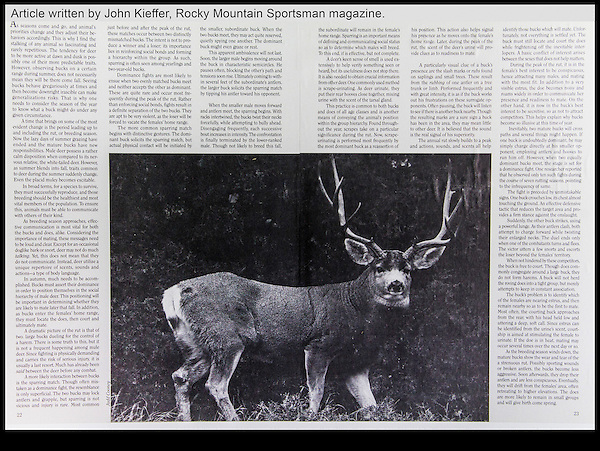 Rocky Mountain Sportsman magazine article by John Kieffer.