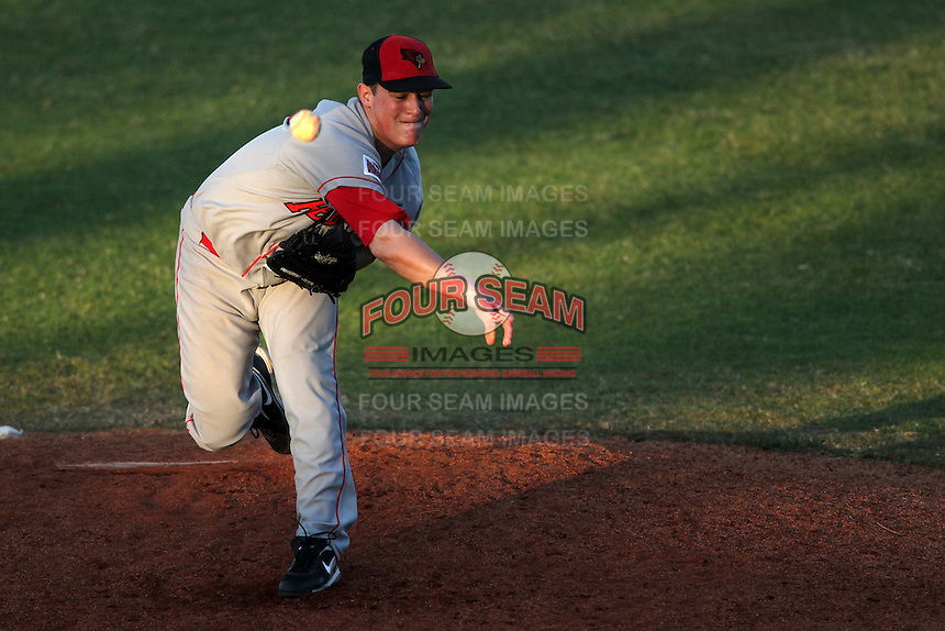 Illinois State Redbirds pitcher Cam Verbeke #24 during a game vs. Bowling Green at Chain of Lakes Park in Winter Haven, Florida;  March 6, 2011.  Illinois State defeated Bowling Green 18-10.  Photo By Mike Janes/Four Seam Images