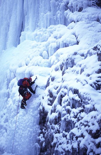 Ice Climber, Carls Berg, Lilloet, British Columbia, Canada