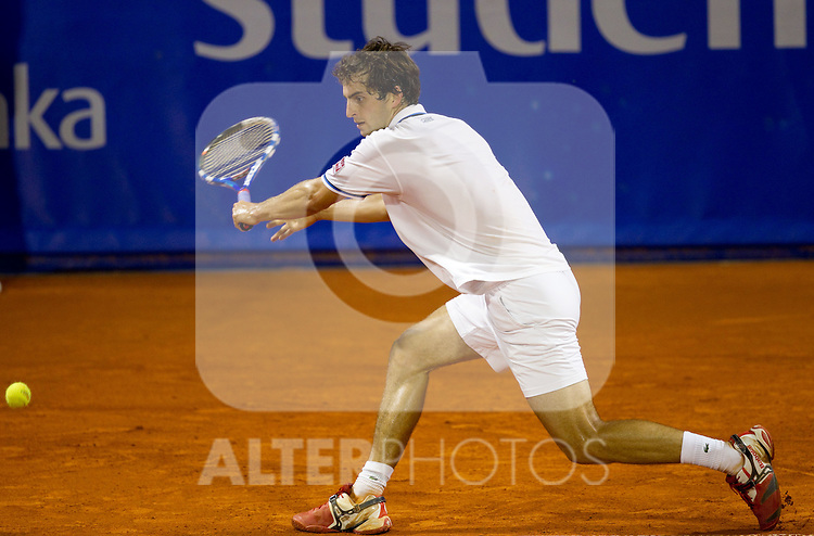 25.07.2011, Umag, CRO, ATP World Tour, Studena Croatia Open, im Bild Albert Ramos (ESP) during a tennis match against  Ivan Dodig (CRO) in the 1st round of singles at 22nd ATP Studena Croatia Umag 2011, on July 25, 2011, in Umag, Croatia. EXPA Pictures © 2011, PhotoCredit: EXPA/ Sportida/ Vid Ponikvar +++++ ATTENTION - OUT OF SLOWENIA  +++++