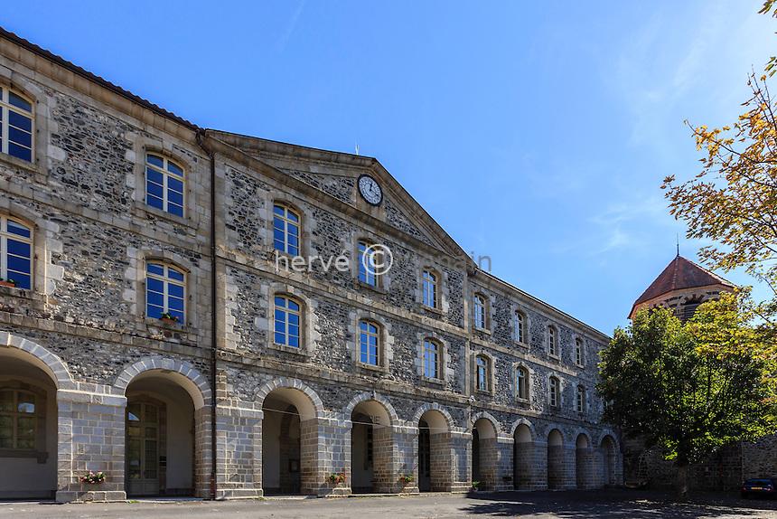 France, Haute-Loire (43), Le Monastier-sur-Gazeille, l'abbaye bénédictine // France, Haute Loire, Le Monastier sur Gazeille, benedictine abbey