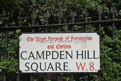 Campden Hill Square. Holland Park Royal Borough of Kensington and Chelsea. London UK