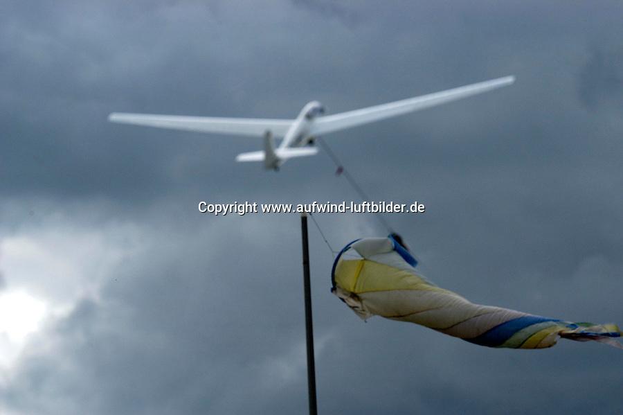 Segelflug, Windenstart, Windsack