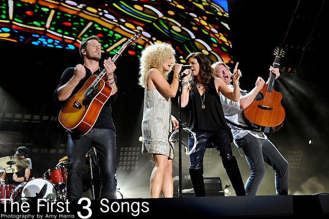 Little Big Town performs at LP Field during the 2011 CMA Music Festival on June 11, 2011 in Nashville, Tennessee.