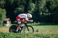 Michal Kwiatkowski (POL/SKY)<br /> <br /> MEN ELITE INDIVIDUAL TIME TRIAL<br /> Hall-Wattens to Innsbruck: 52.5 km<br /> <br /> UCI 2018 Road World Championships<br /> Innsbruck - Tirol / Austria