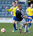 MORTON'S DAVID O'BRIEN IS BLOCKED BY RAITH'S NEW BOY JASON THOMSON