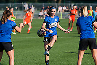 Kansas City, MO - Sunday July 02, 2017:  Erika Tymrak works out with teammates before a regular season National Women's Soccer League (NWSL) match between FC Kansas City and the Houston Dash at Children's Mercy Victory Field.