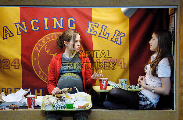ELLEN PAGE & OLIVIA THIRBY.in Juno .*Filmstill - Editorial Use Only*.CAP/FB.Supplied by Capital Pictures.