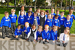 TOUR OF THE SCHOOL: Junior infants in the CBS, Clounalour, Tralee got a tour of their new school yard during their first day on Monday. From front l-r were: Mirovan Zoric, Sean Sookarry, Dylan O'Mahony, Temi, Gooden, Amy and Patrick Pittman, Cliona Daughton and Eliza Vathi. Middle row l-r were: Daniel Bowler, Rian Costello, Magdelena Patkanova, Niamh O'Mahony, Tara Clifford, Lauren Delaney, Dona Maria George, Ryan Leahy and Kevin Demeter. Back l-r were: Ebosetale Anegbode, Craita Anghel, Roksana Trybka, Kian Lydon, Milos Boric, Zak Abnoun, Shane Bastible and Adam Looby Lusandu.