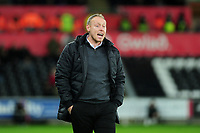 Steve Cooper Head Coach of Swansea City shouts instructions to his team from the dug-out during the Sky Bet Championship match between Swansea City and Millwall at the Liberty Stadium in Swansea, Wales, UK. Saturday 23rd November 2019