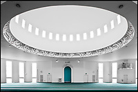 BNPS.co.uk (01202 558833)<br /> Pic: HistoricEngland/BNPS<br /> <br /> Baitul Futuh Mosque in leafy Morden in Surrey.<br /> <br /> A new book from Historic England reveals the spread of Mosque building across Britain.<br /> <br /> The book provide a fascinating insight into the diversity of Britain's 1,500 mosques.<br /> <br /> They range from humble house conversions where small groups gather to magnificent purpose-built complexes which can accommodate thousands of worshippers.<br /> <br /> Architect Shahed Saleem, who has designed a mosque in Hackney, east London, has produced the first comprehensive overview of Islamic architecture on these shores in his new book, The British Mosque.