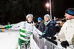 Stockholm 2015-01-06 Bandy Elitserien Hammarby IF - V&auml;ster&aring;s SK :  <br /> V&auml;ster&aring;s Ted Bergstr&ouml;m ser glad tillsammans med V&auml;ster&aring;s supportrar efter matchen mellan Hammarby IF och V&auml;ster&aring;s SK <br /> (Foto: Kenta J&ouml;nsson) Nyckelord:  Elitserien Bandy Zinkensdamms IP Zinkensdamm Zinken Hammarby Bajen HIF V&auml;ster&aring;s VSK jubel gl&auml;dje lycka glad happy glad gl&auml;dje lycka leende ler le supporter fans publik supporters