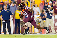 Landover, MD - SEPT 3, 2017: Virginia Tech Hokie James Clark has a big punt return late in the 4th quarter during game between West Virginia and Virginia Tech at FedEx Field in Landover, MD. (Photo by Phil Peters/Media Images International)