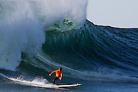 Half Moon Bay - Ca, Sunday, January 20, 2013: Zach Wormhoudt l competes during the 2013 Mavericks Invitational..