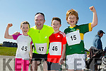 Hannah May Lucey, Niall Lucey, Seamus Lucey and Evan Casey all from Ballyheigue at the annual Ballyheigue Family Resource Centre Road Race & Fun Run on Sunday