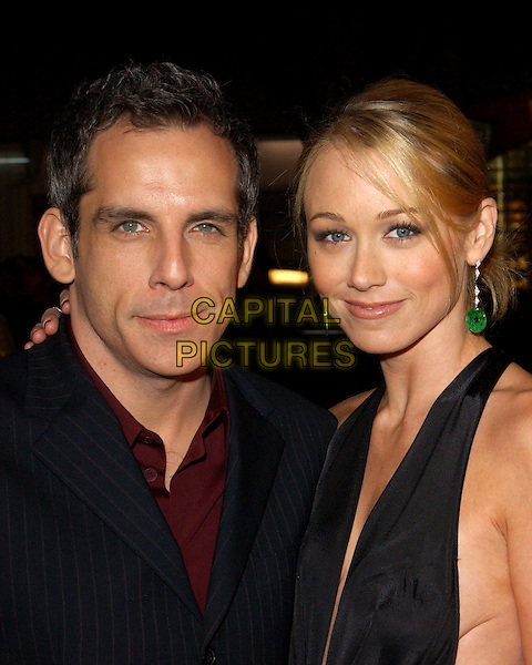 BEN STILLER & WIFE CHRISTINE TAYLOR.World Premiere of Warner Brother's Starsky & Hutch held at The Mann Village Theatre in Westwood, California .26 February 2004 .*UK Sales Only*.www.capitalpictures.com.sales@capitalpictures.com.©Capital Pictures.