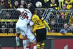 09.03.2019, Signal Iduna Park, Dortmund, GER, DFL, 1. BL, Borussia Dortmund vs VfB Stuttgart, DFL regulations prohibit any use of photographs as image sequences and/or quasi-video<br /> <br /> im Bild Strafraumszene . Torchance von Abdou Diallo (#4, Borussia Dortmund) (re.) Ozan Kabak (#18, VfB Stuttgart) (li.)<br /> <br /> Foto &copy; nph/Mauelshagen