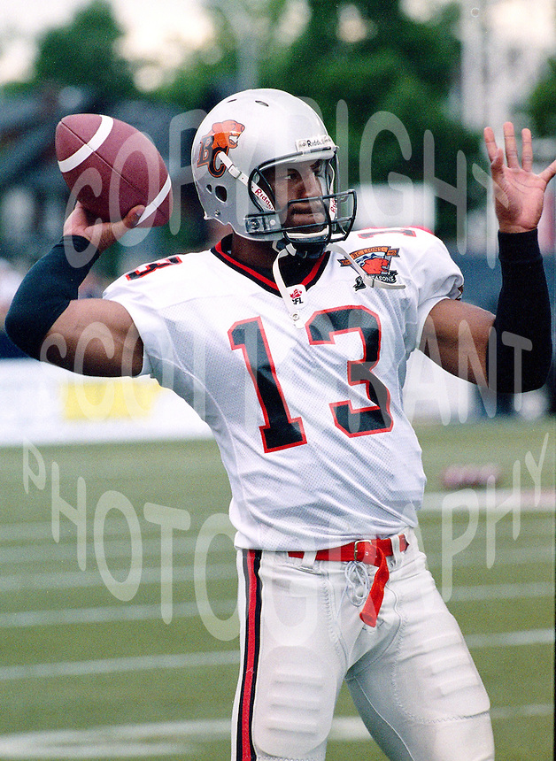 Spergon Wynn BC Lions 2003. Photo John Bradley